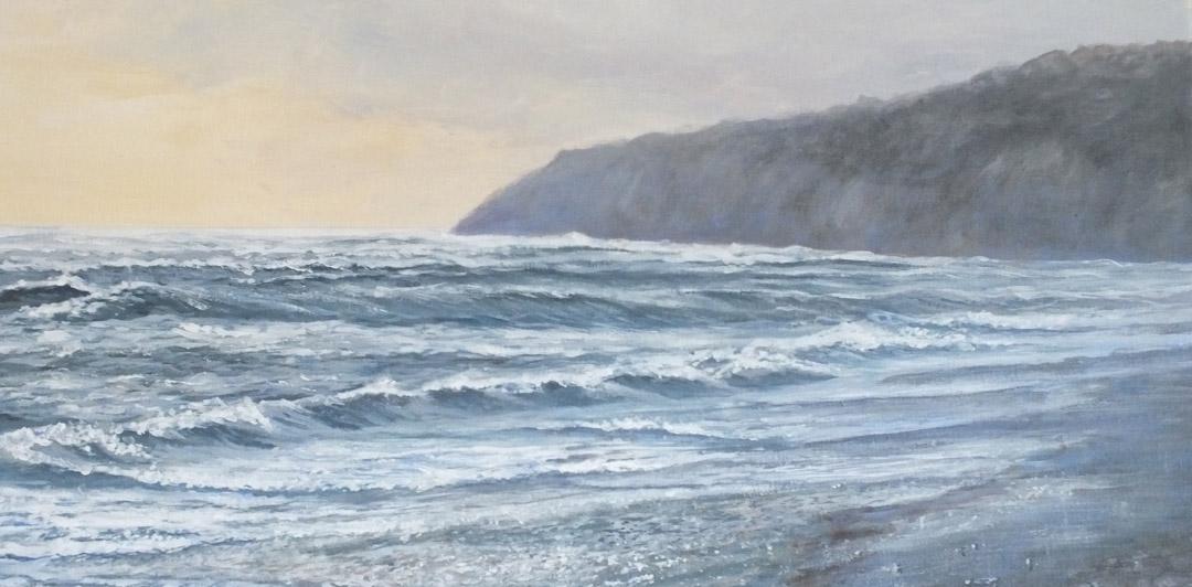 Storm, Monmouth Beach - Sue Lewin Artist