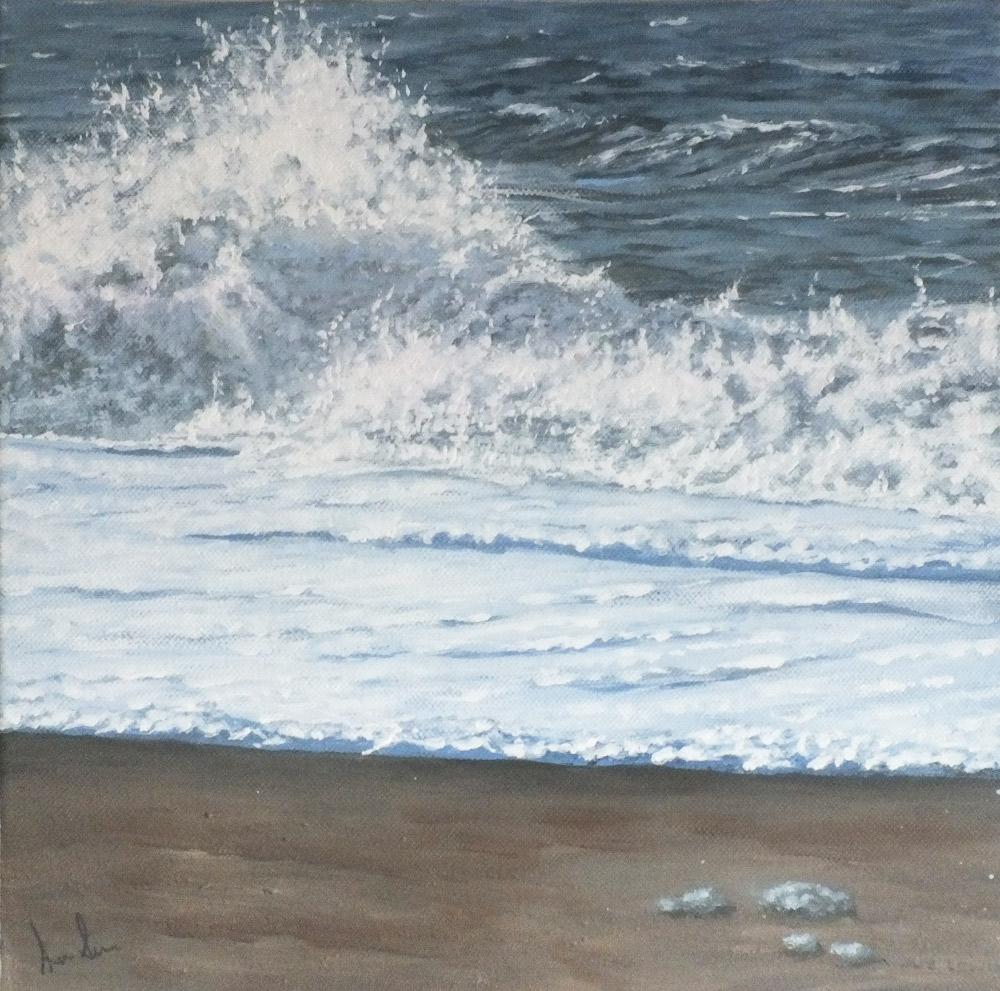 Big Wave 2 - Sue Lewin Artist - Lyme Regis Dorset